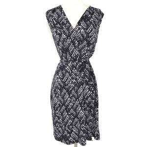 APT 9 Black and White Belted Dress